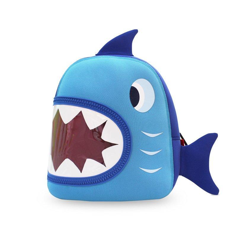 NH024 Shark design blue ultra-light environmental neoprene children backpacks