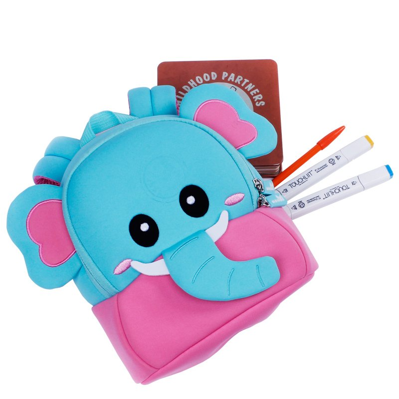 Nohoo Children Products-Personalized Toddler Backpack, Nh058 New Arrival Elephant Cute Neoprene-2