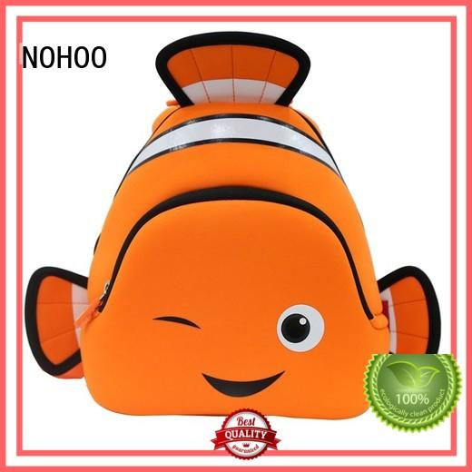NOHOO environmental toddler rolling backpack factory price for primary students