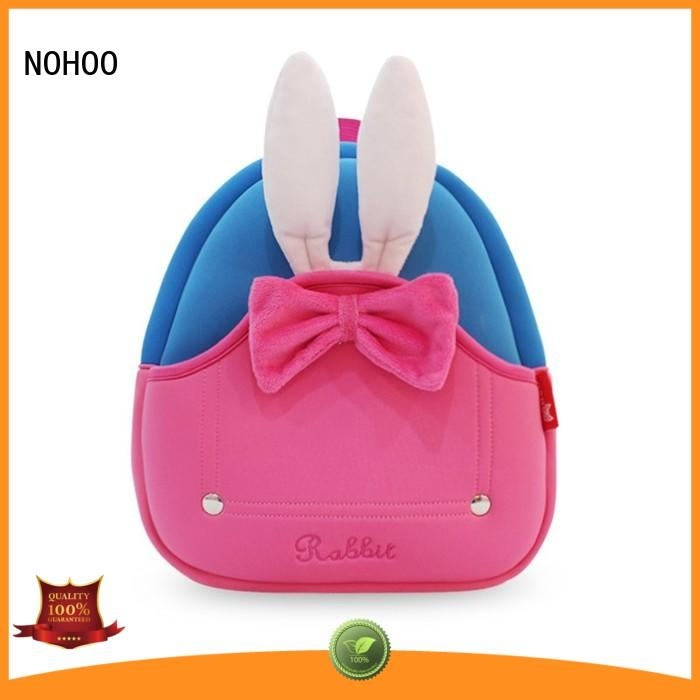 NOHOO soft toddler rolling backpack factory price for primary students