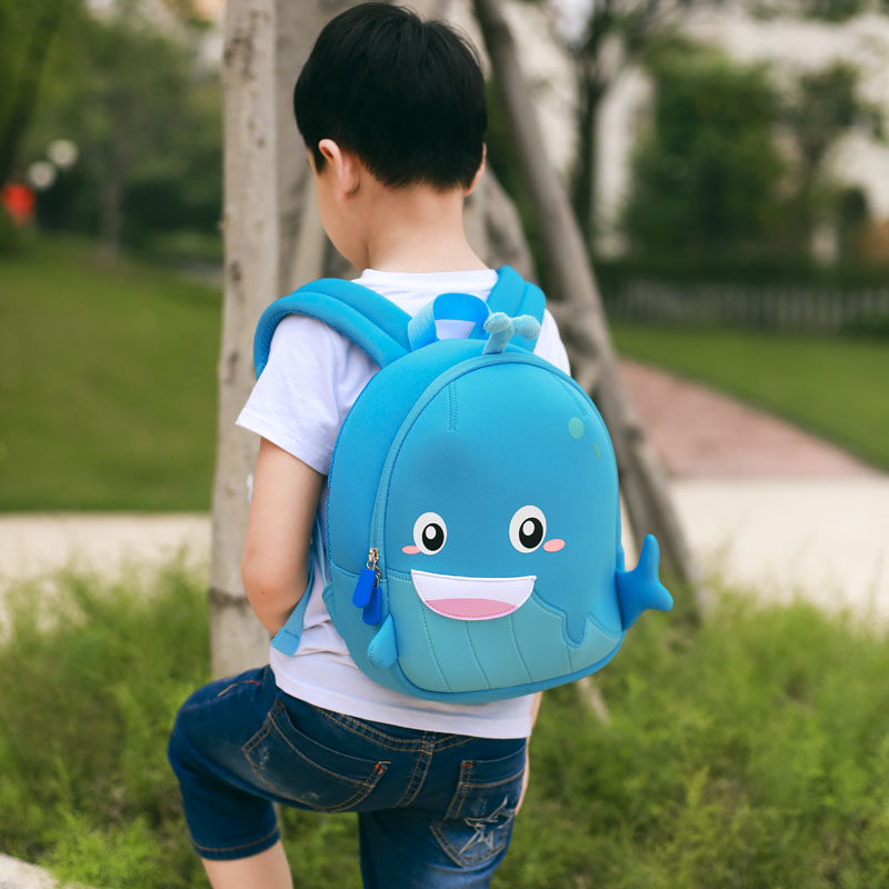 Nohoo Children Products-Manufacturer China Neoprene Children Bag Lovely Whale Backpack-5