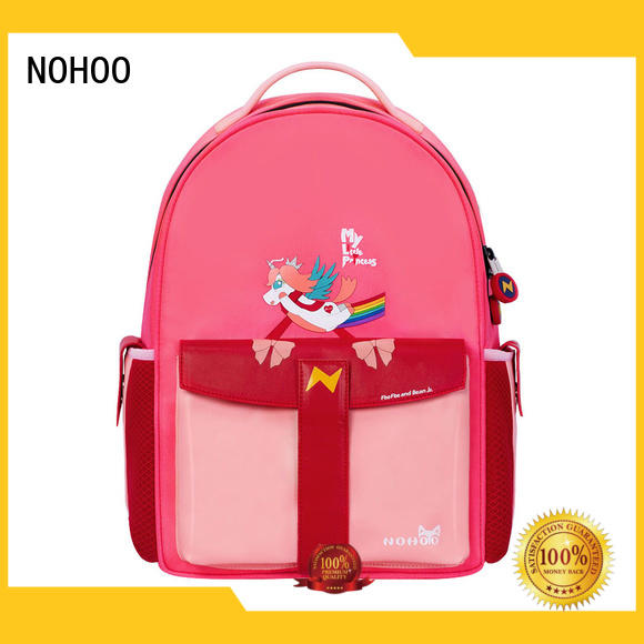 quality canvas children school bag 3d personalized for girls