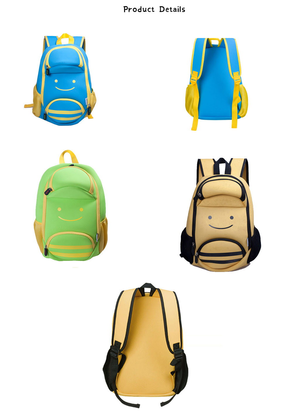 Nohoo Children Products-Ultra Lightweight Kids Backpack Animal Bee Preschool Children Bag