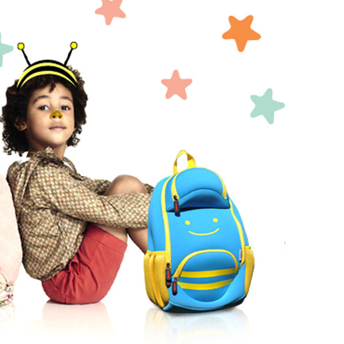 Nohoo Children Products-Ultra Lightweight Kids Backpack Animal Bee Preschool Children Bag-1