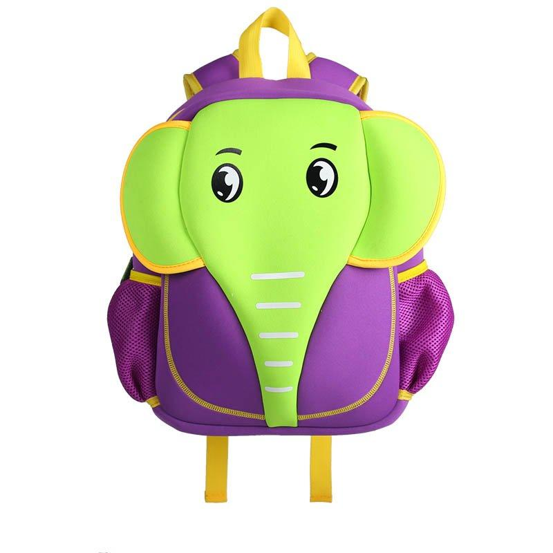 NH012 Elephant style waterproof kids cute neoprene children school bag