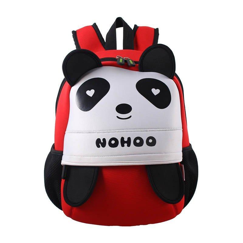 NH013 Neoprene lovely style kids bag 3D panda children hiking school bags