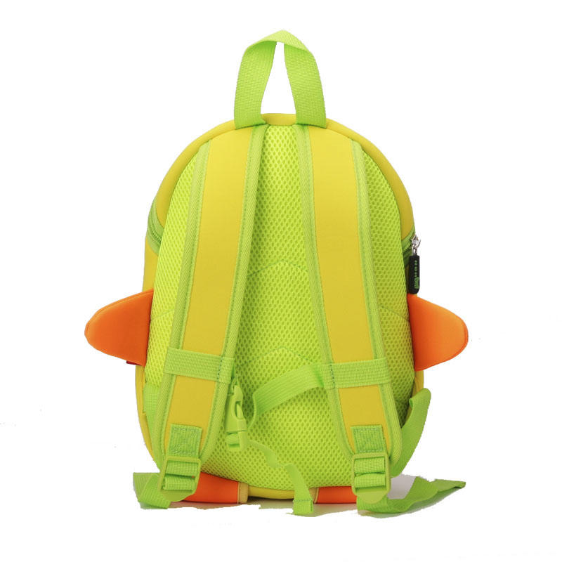 NH017 Lovely cartoon Kids daily bag Duck 3D Shape kindergarten bag for children