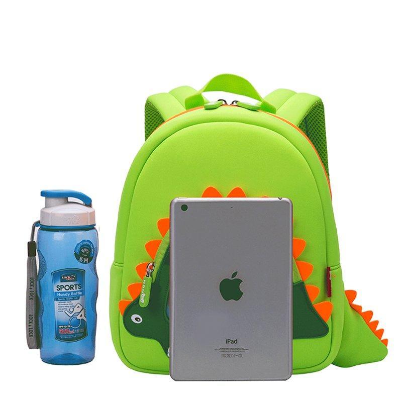 NH026 Hot sell neoprene children backpack top quality dinosaur kindergarten bag