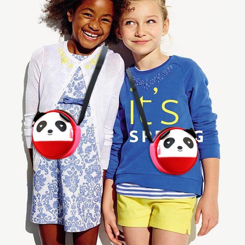 NHK003 High Quality Unisex 3D Panda baby bag neoprene messenger bag for kids