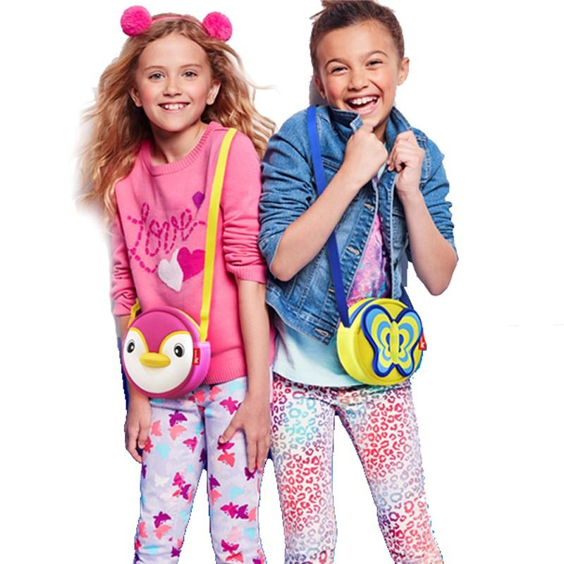 Nohoo Children Products-Lovely Butterfly Cartoon Lightweight Kids Messenger Bag For Girls-3