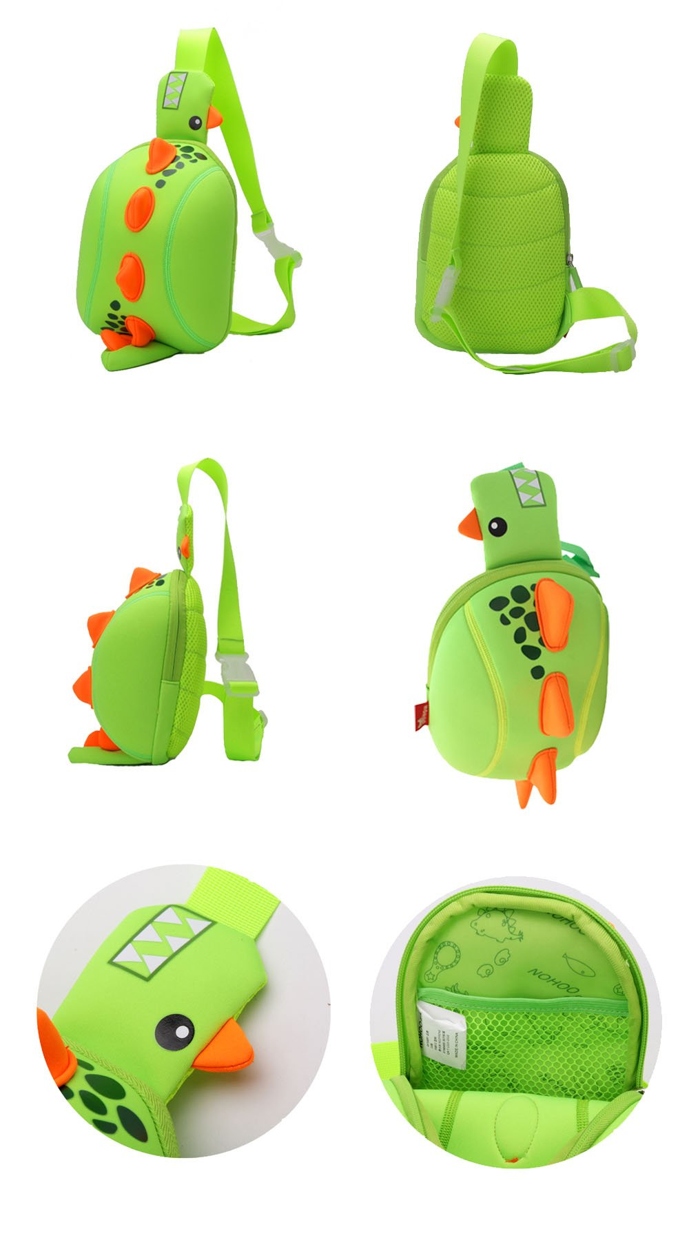 Nohoo Children Products-Dinosaur Cartoon Kids Backpack Manufacturers Children Animal Chest Bag