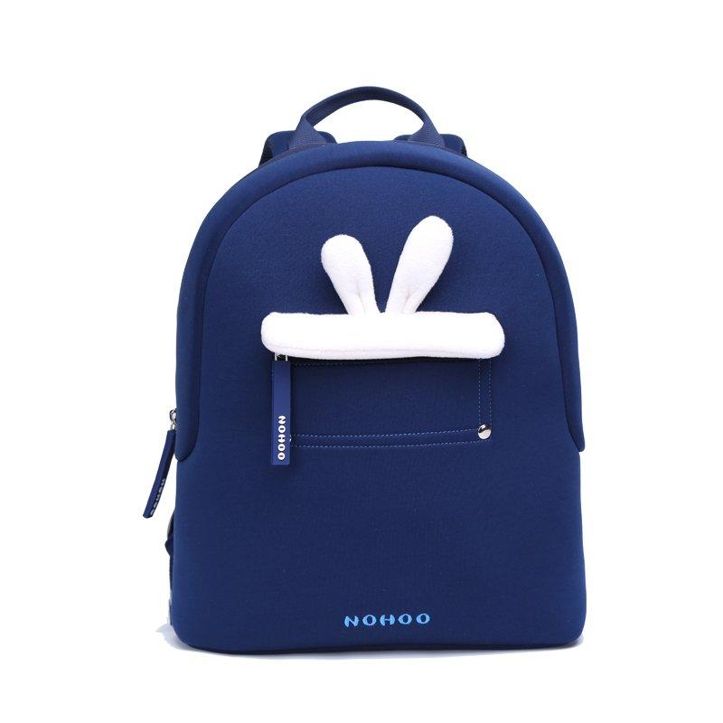 NHQ008 Blue rabbit plush Kids Backpack Preschool Boys Girls family backpack
