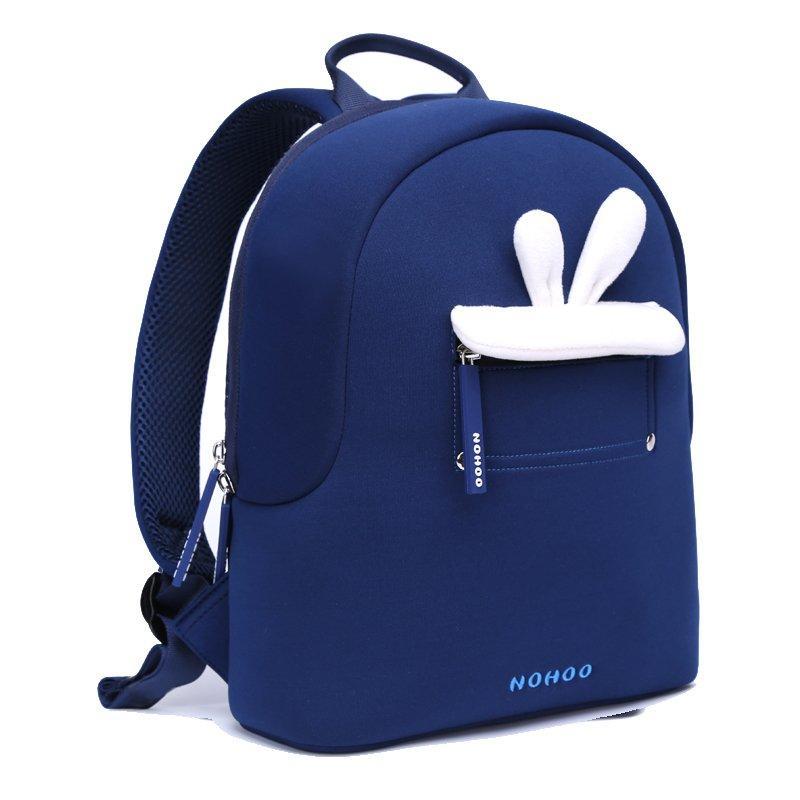 NHQ008 Blue rabbit plush Kids Backpack Preschool Boys Girls family backpack