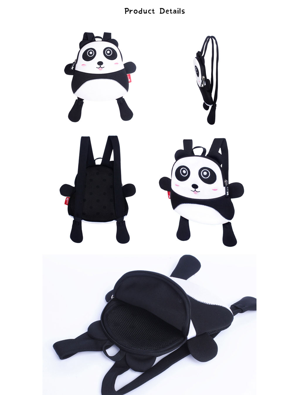 Nohoo Children Products-Toddler Kids Panda Backpack Anti Lost Bags With Safety For Boys Girls