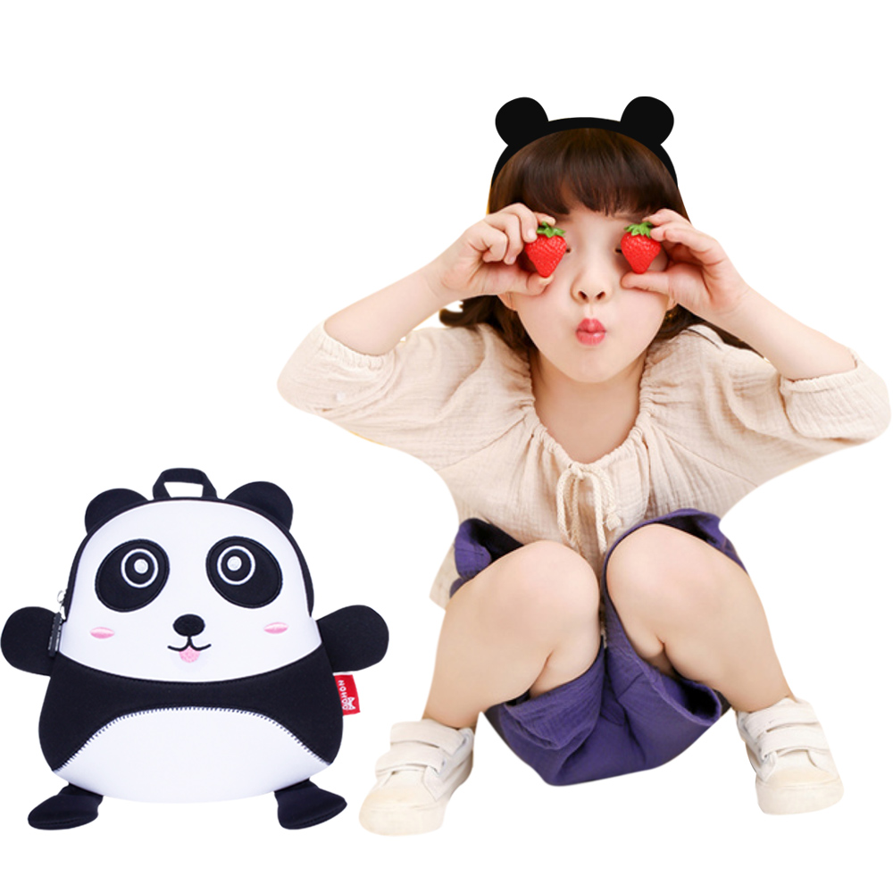 Nohoo Children Products-Toddler Kids Panda Backpack Anti Lost Bags With Safety For Boys Girls-2