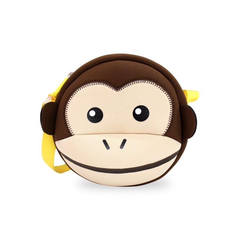 NHK008 Lovely Kids Monkey Style Messenger Bags Waterproof Sling Bag