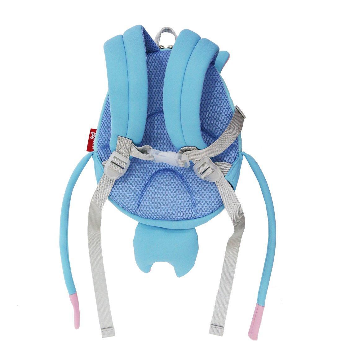 NH069 New design Hippo cartoon neoprene kids animal backpack for young children