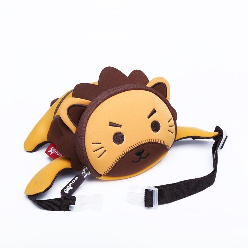 NHY003 High quality waterproof mini neoprene kids waist bag lion