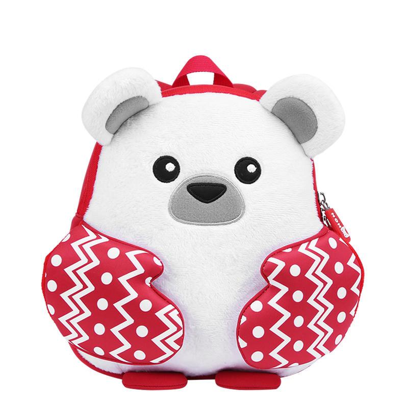 NH066 2018 new design cartoon neoprene kids lightweight backpack with plush
