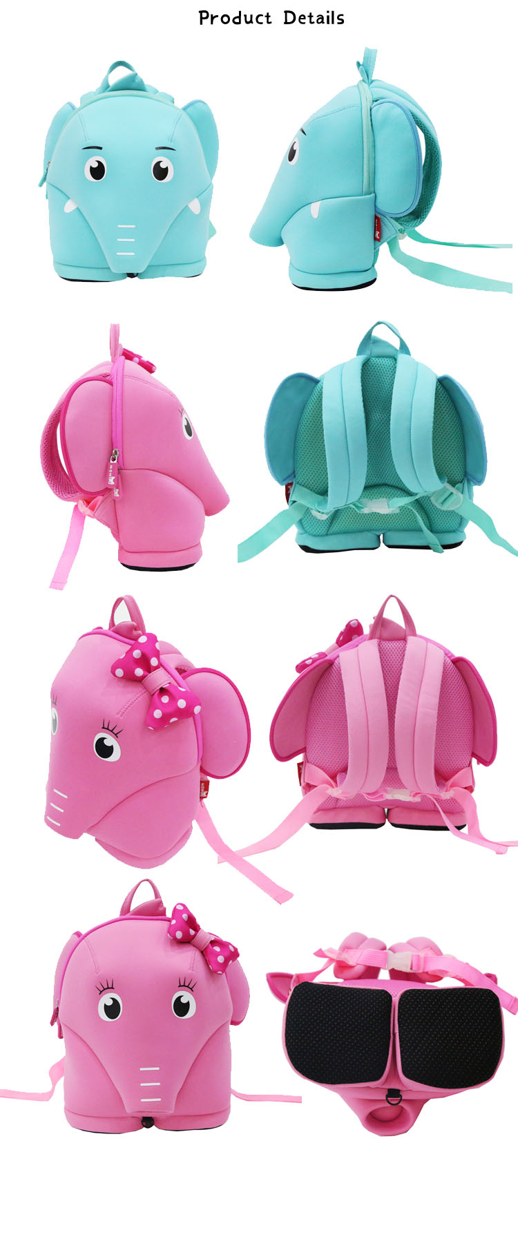 Nohoo Children Products-Neoprene Cute Kindergarten Toddler Safety Harness Backpack For Children