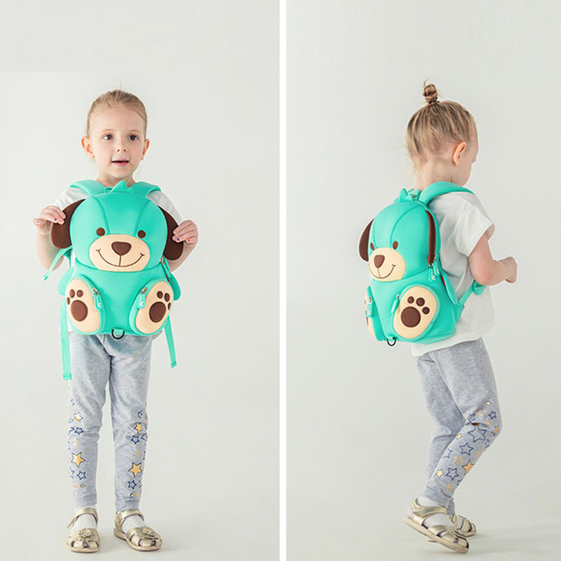 Nohoo Children Products-Hot Sale Soft Cute Blue Dog Kids Zoo Animal Backpack Manufacture-4