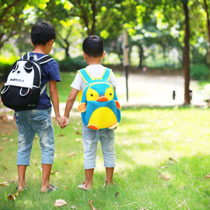 Nohoo Children Products-Neoprene Lovely Style Kids Bag 3d Panda Children Hiking School Bags-3