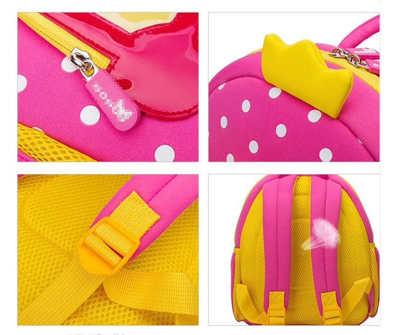Nohoo Children Products-Lovely Design Cartoon Kids Backpack Neoprene Kindergarten Bag For Girls-1