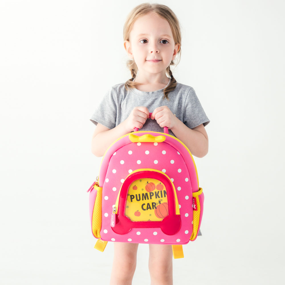 Nohoo Children Products-Lovely Design Cartoon Kids Backpack Neoprene Kindergarten Bag For Girls-2