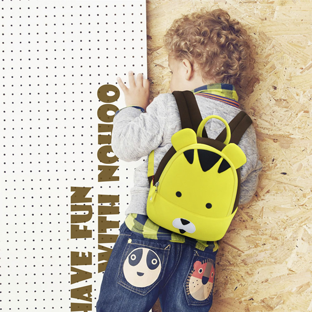 Nohoo Children Products-Professional Tiger Neoprene Kids Backpack Animal Cute Toddler Rucksack-3