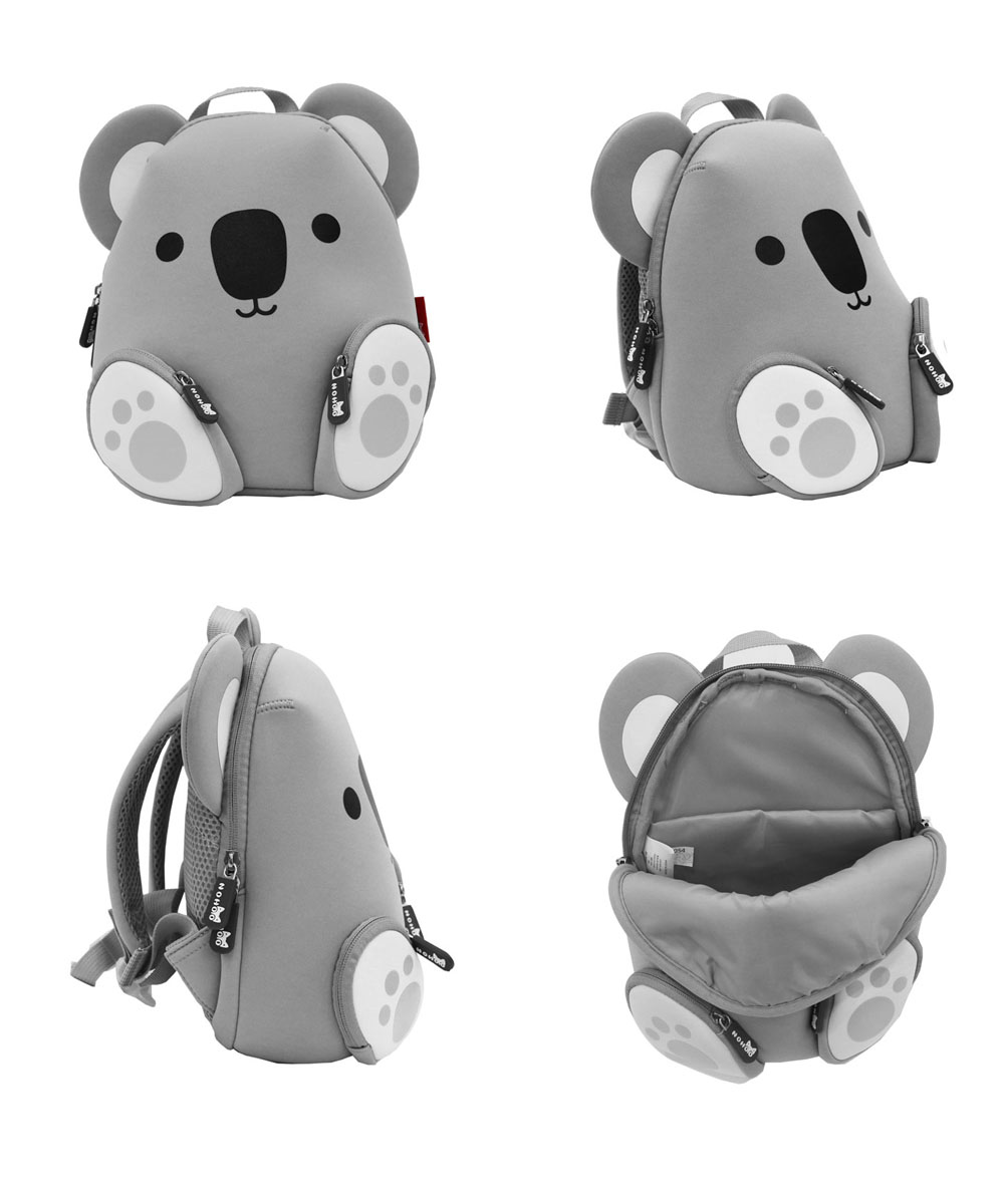 Nohoo Children Products-Koala Neoprene Animal Children Bag Boys Girls Toddlers Daily Backpack