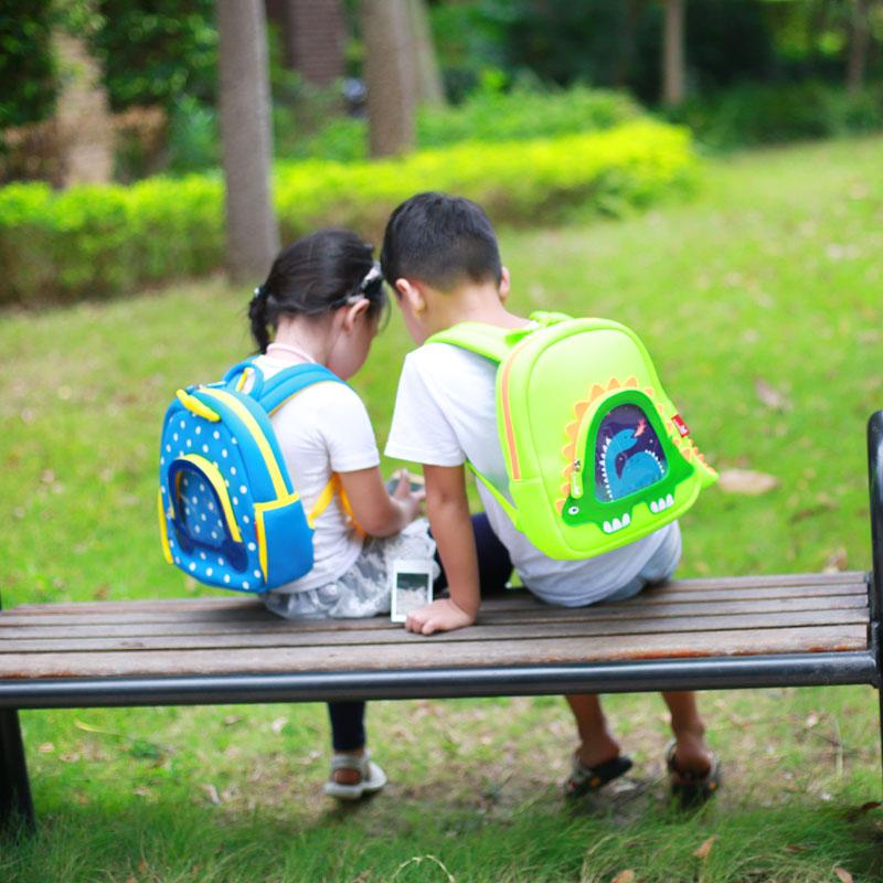 Nohoo Children Products-Hot Sell Neoprene Children Backpack Top Quality Dinosaur Kindergarten-4