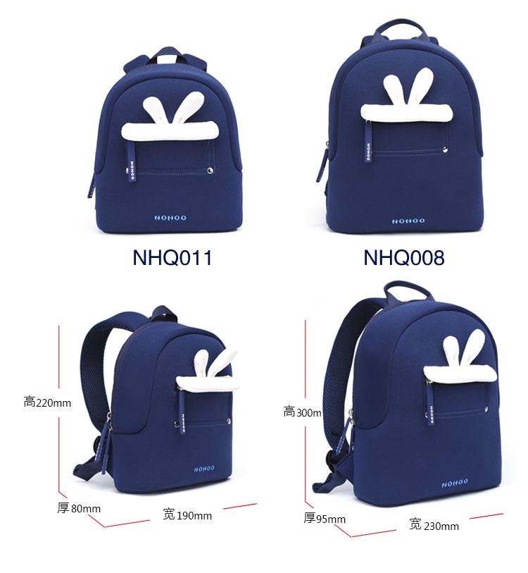 Nohoo Children Products-Blue Rabbit Plush Kids Backpack Preschool Boys Girls Family Backpack-3