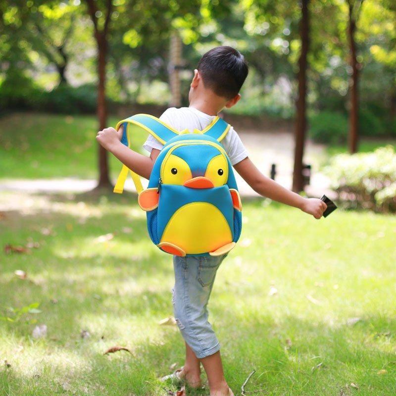 Nohoo Children Products-Find Penguin Style Neoprene Backpack Kids 3d Cartoon Schoolbag For Boys-2