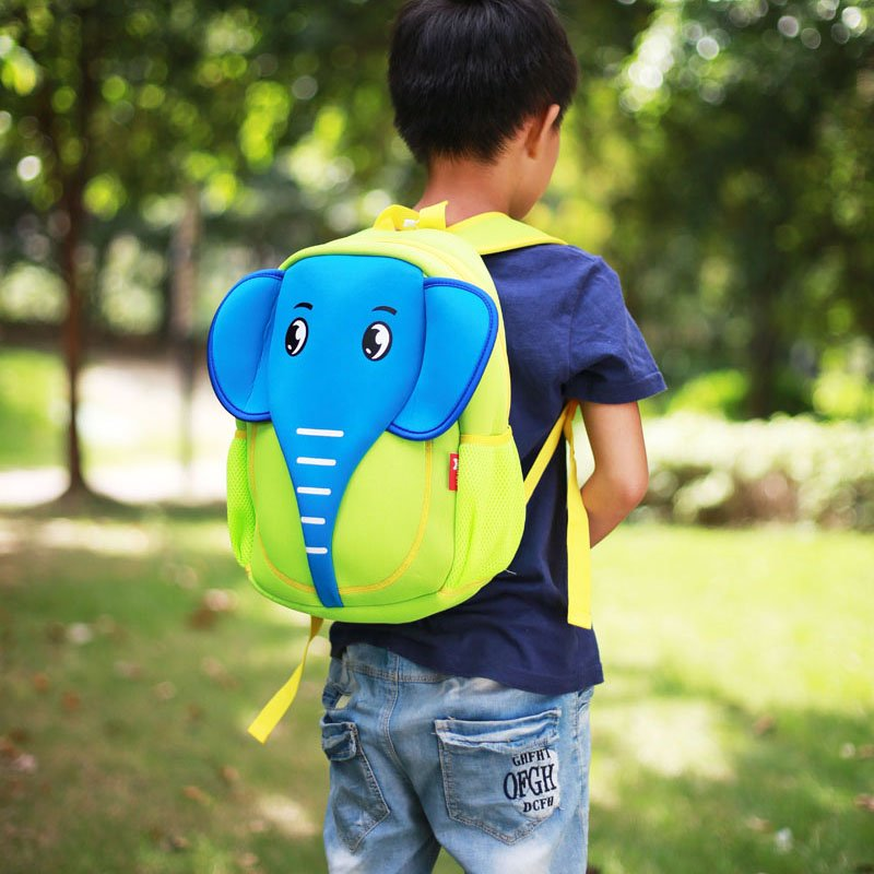 Nohoo Children Products-Elephant Style Waterproof Kids Cute Neoprene Children School Bag Cute-3