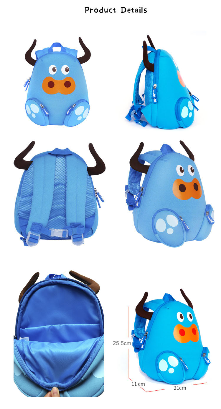 Nohoo Children Products-Nh045 Cattle Animal Children Backpack Camping Bags For Small Kids