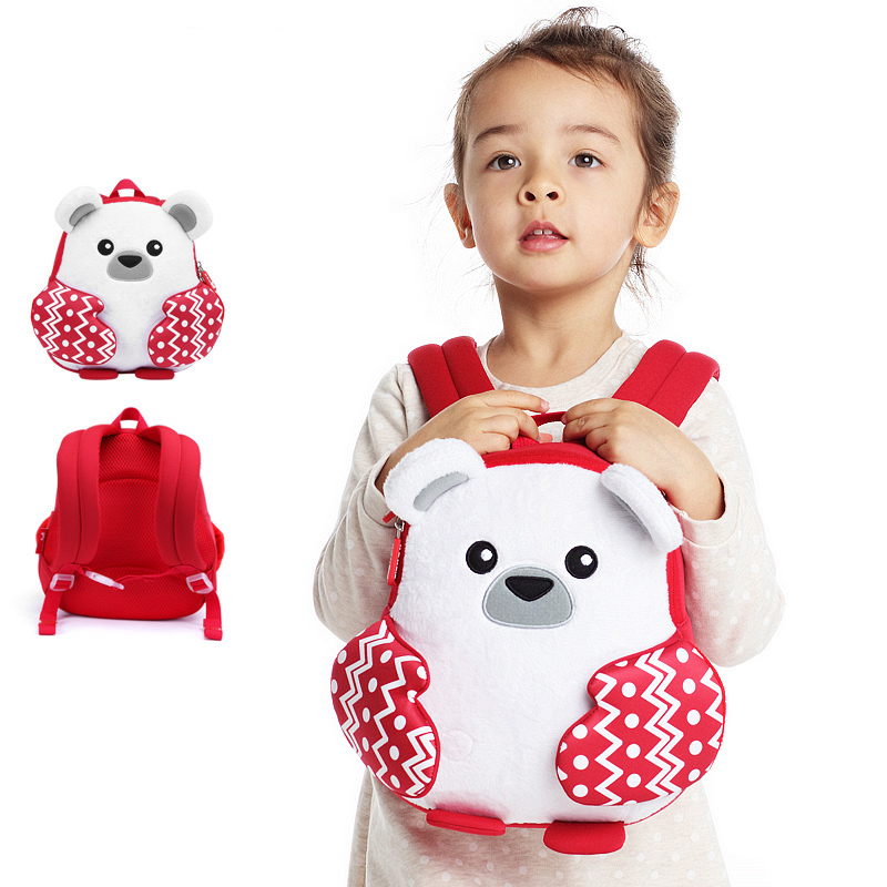 Nohoo Children Products-New Design Cartoon Neoprene Kids Lightweight Backpack With Plush-4