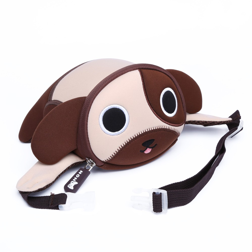 Nohoo Children Products-Best Mini Embroidery Dog Printing Crossbody Chest Bag Kids Waist Bag-4