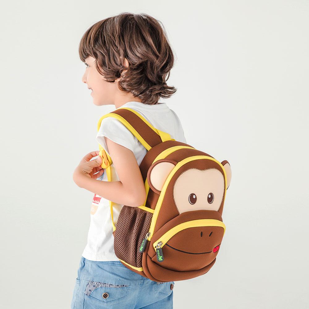 Nohoo Children Products-Find Neoprene Kid Backpack Cute Zoo Animal Monkey Cartoon Bag For Boys-1