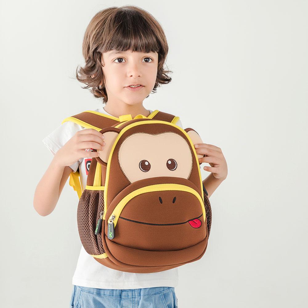 Nohoo Children Products-Find Neoprene Kid Backpack Cute Zoo Animal Monkey Cartoon Bag For Boys-4