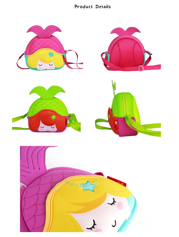 Nohoo Children Products-Custom High Quality Eco Friendly Neoprene Mermaid Kids Messenger Bag