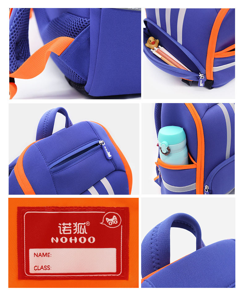 Nohoo Children Products-Nh038 Eco-friendly Large Capacity Student Backpack With Reflector-3