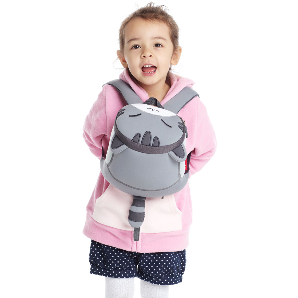 Nohoo Children Products-Nh041 Creative Lovely Cat Neoprene Toddler Backpack With Anti-lost-4