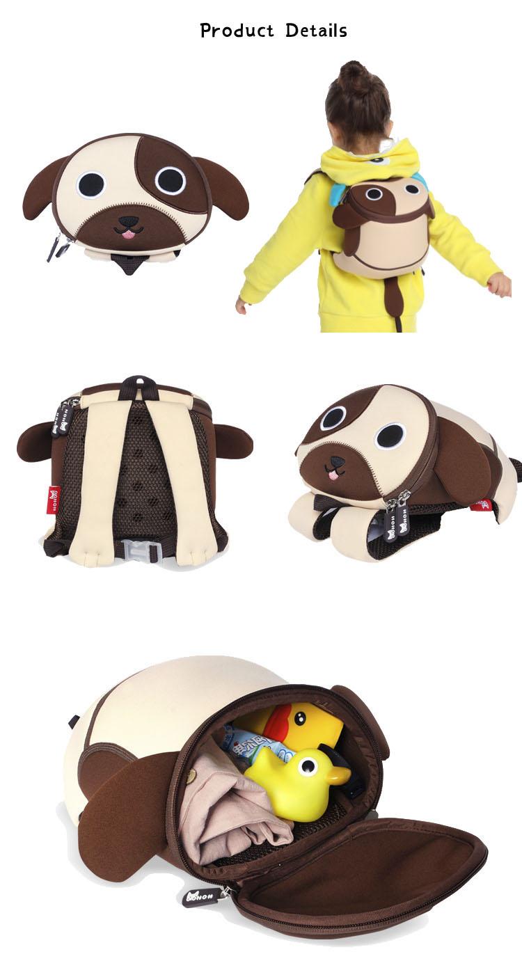 Nohoo Children Products-Nh049 Popular Softback Neoprene Children Anti Lost Backpack For Kids