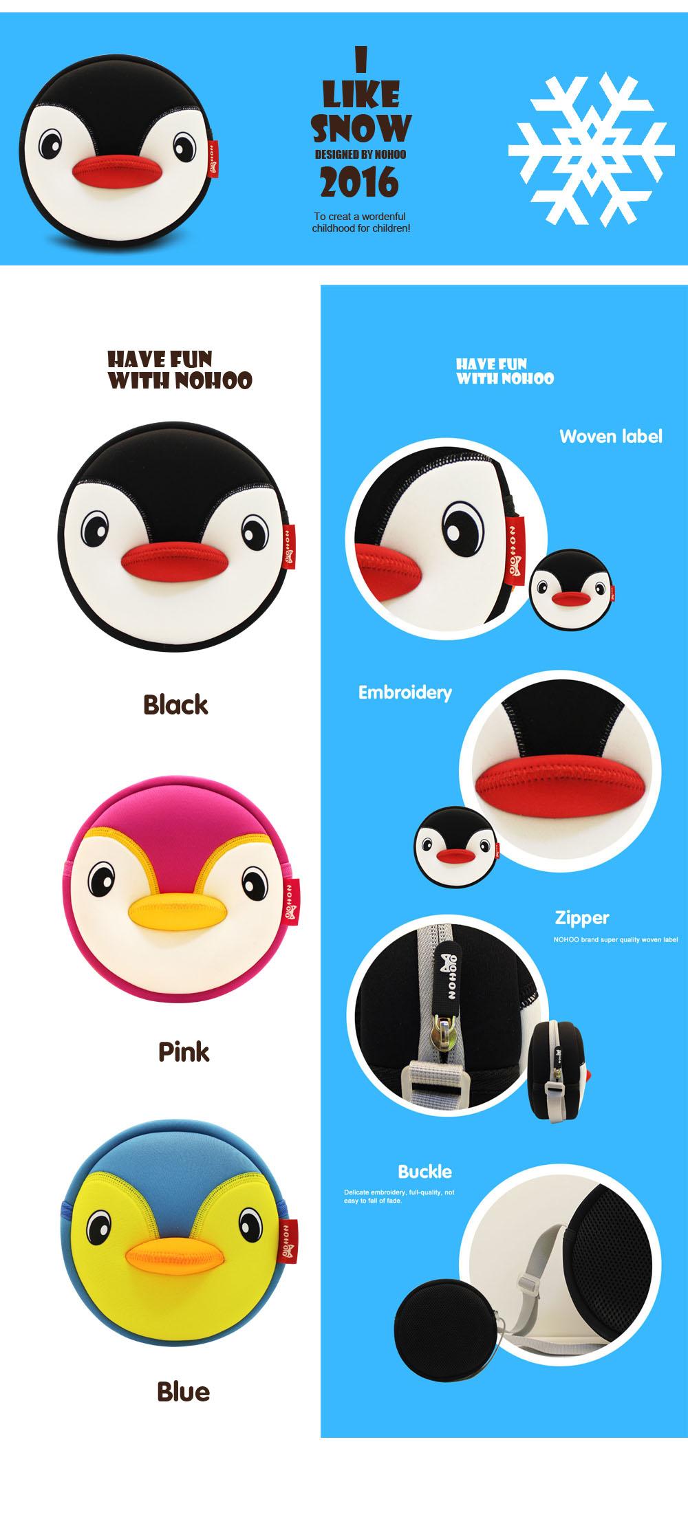 Nohoo Children Products-Lovely Penguin Children Mini Outdoor Sports Kids Animal Messenger Bag