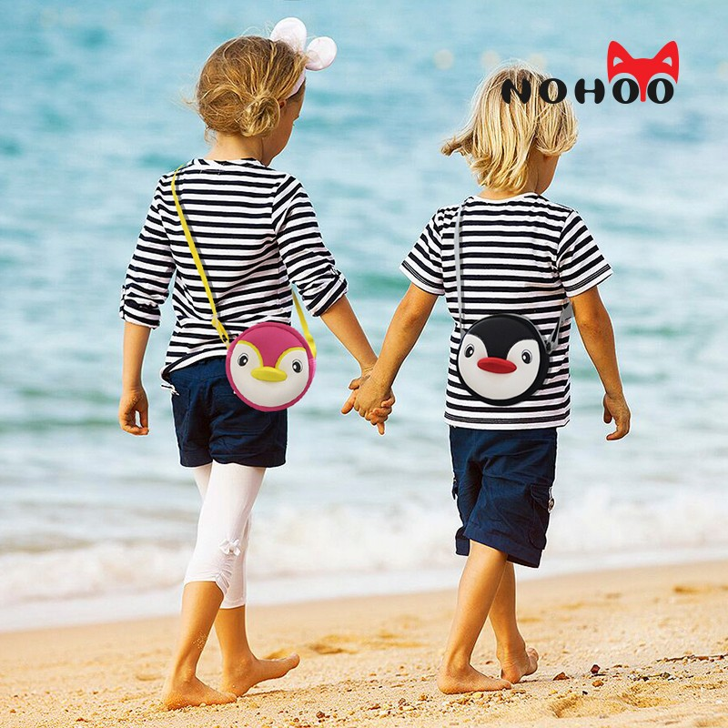 Nohoo Children Products-Lovely Penguin Children Mini Outdoor Sports Kids Animal Messenger Bag-3