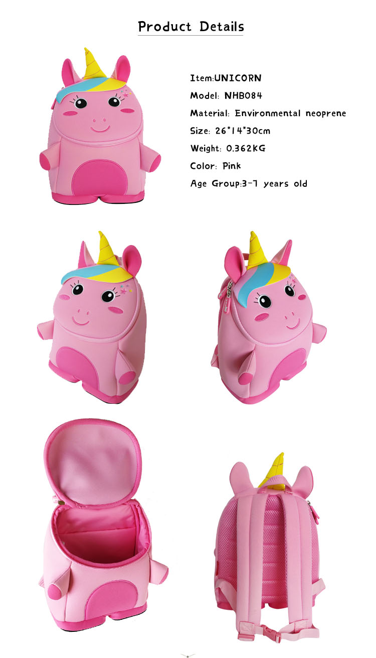 Nohoo Children Products-Unicorn Backpack For Kids , Preschool Backpack Kids Bags