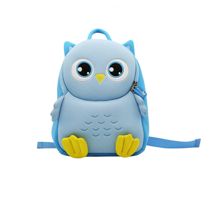 NHB142 Nohoo New style vivid 3D cartoon owl school bag factory in China