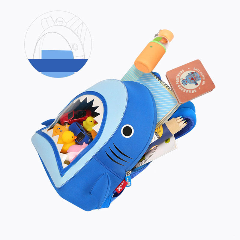 NHB186 New arrival cute and vivid shark toddler Backpack bag