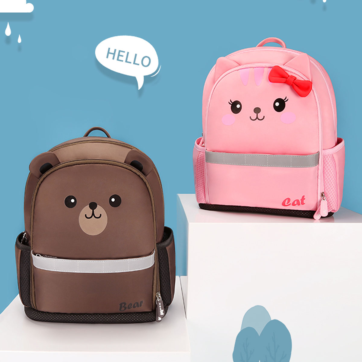 Nohoo Children Products-Kids Backpack Supplier Manufacture | 3D polyester bag-3