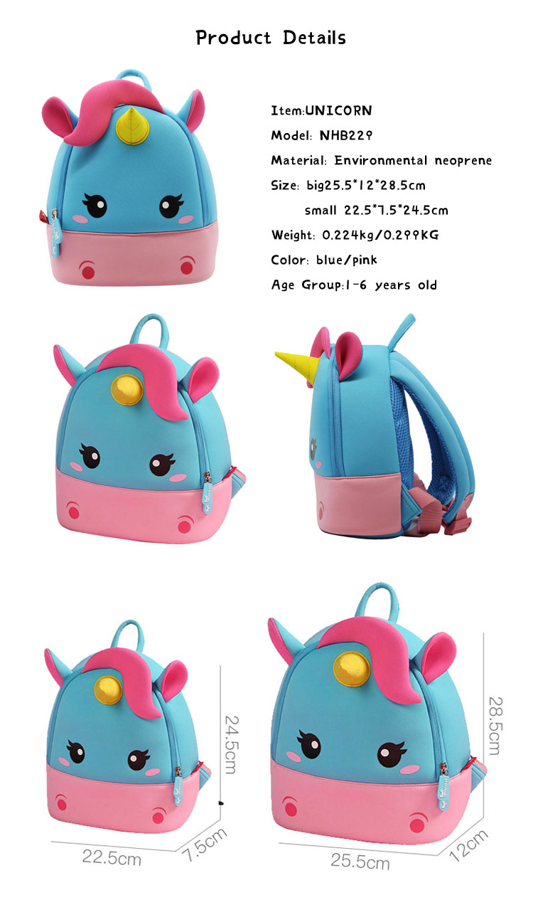 Nohoo Children Products-New Arrival Lightweight Backpack For Boys Girls | NHB229 Neoprene